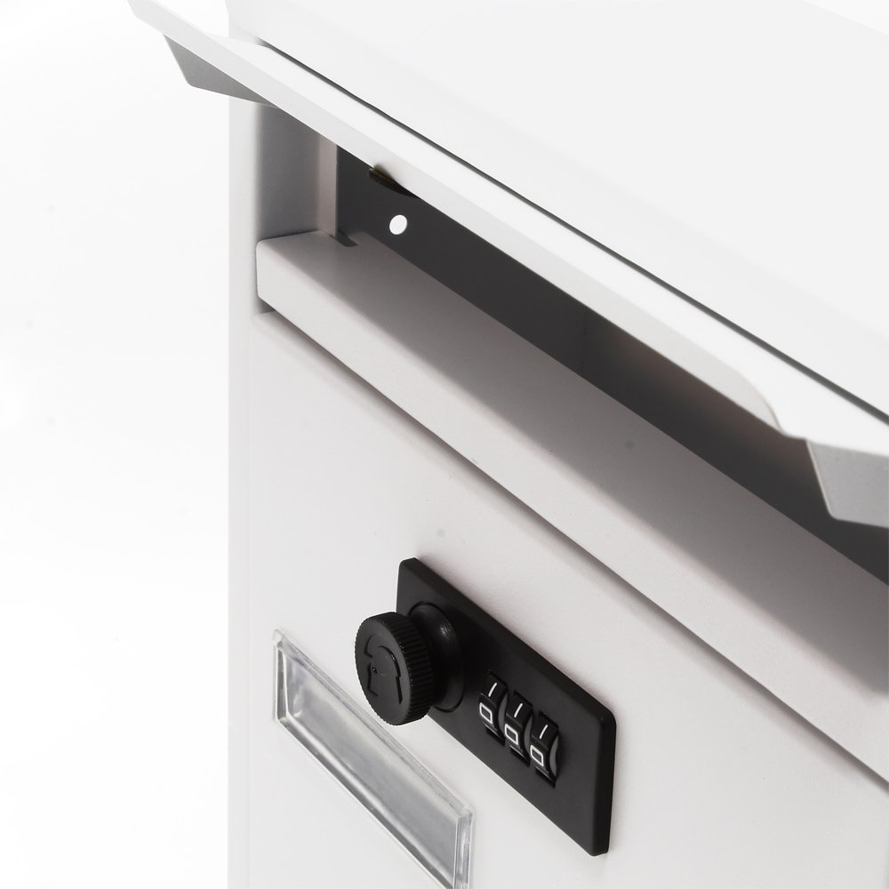Buz/ón Decorativo Moderno Blanco de Pared Cerradura Individual Recubrimiento Polvo Exterior
