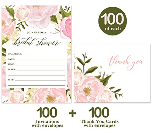 Bride To Be Shower Invitations Matching Thank You Notes 100 Of