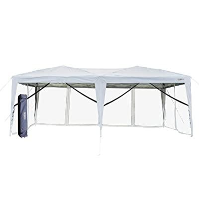 VINGLI Ez Pop up Canopy with Netting, 10x20ft Screen House w/ 6pcs Tent Mesh Sidewalls with Carrying Bag: Sports & Outdoors