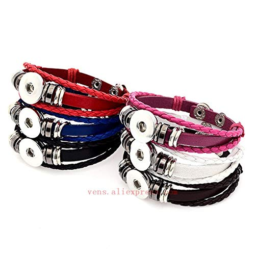 Gabcus Sublimation Blank Leather Bracelet Fashion Bracelets Thermal Transfer Printing Jewelry Customized Gifts New Style 15pcs/lot - (Metal Color: Mix Color) ()