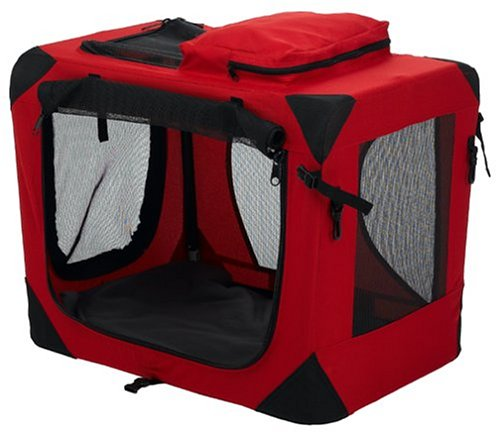 Pet Gear Home N Go Deluxe Soft-Sided Pet Crate, Small, Red Poppy