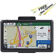 7 inch Navigation System for Cars, Car GPS Spoken Turn- to-Turn 8GB Vehicle GPS Navigator, Lifetime Map Updates