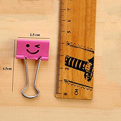 Coideal Cute Binder Clips File Organizer Paper Holder Metal Binder Clips, Assorted Color