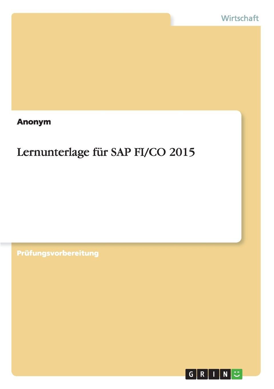 Read Online Lernunterlage für SAP FI/CO 2015 (German Edition) ebook