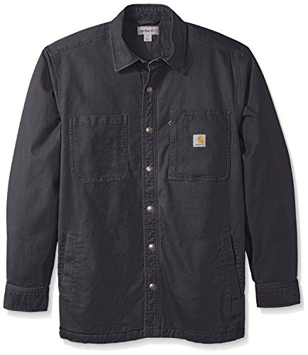 (Carhartt Men's Rugged Flex Rigby Shirt Jacket, Shadow X-Large)
