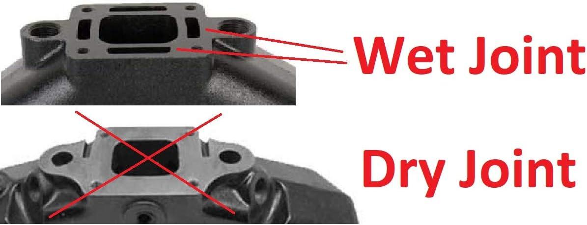 18-1952-1 51220 A.A 2 Pack Exhaust Manifold for MerCruiser 4.3 V6 99746A8 99746A17