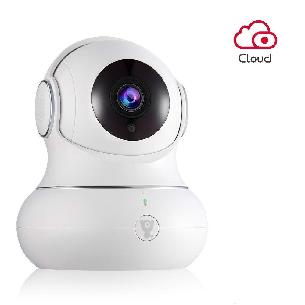 Caméra IP Full HD 1080P Littlelf Sans Fil Moniteur 350° Pan et 105° Inclinaison Contrôlée À Distance par Les App 3D Caméra Panoramique Surveillance à Distance Bébé et Animaux (Noir)