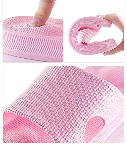 TELLW Bathroom Slippers for Male Female Summer Home Indoor Anti-Slip Thick Bottom Cool Slippers Women Blue AKq0jGMKc