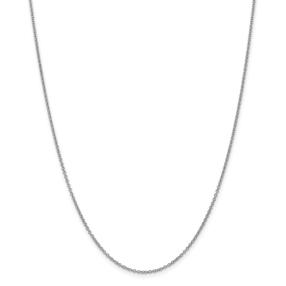 14k White Gold 1.3mm Cable Chain