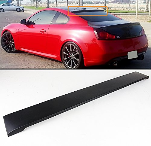 Cuztom Tuning FITS FOR 2007-2014 INFINITI G37 2 DOOR COUPE REAL CARBON FIBER REAR WINDOW ROOF SPOILER VISOR WING ()
