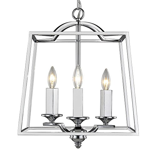 Golden Lighting 3074-3P CH Athena - Three Light Pendant, Chrome (Athena Finish)