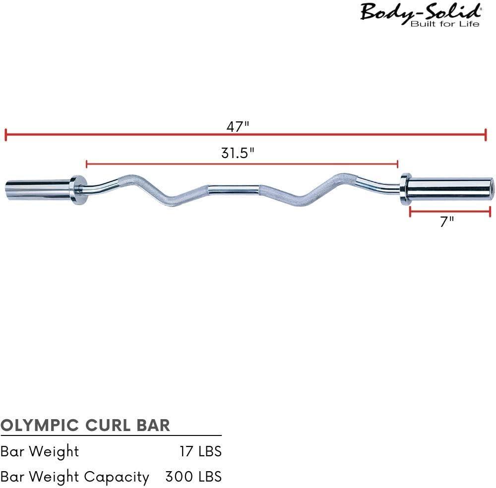 Body Solid 119,38/cm EZ Curl Barra ol/ímpica