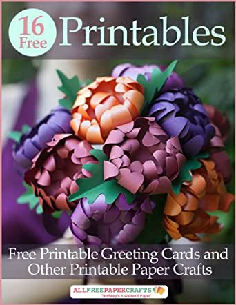 Amazon.com: 16 Free Printables: Free Printable Greeting Cards and ...