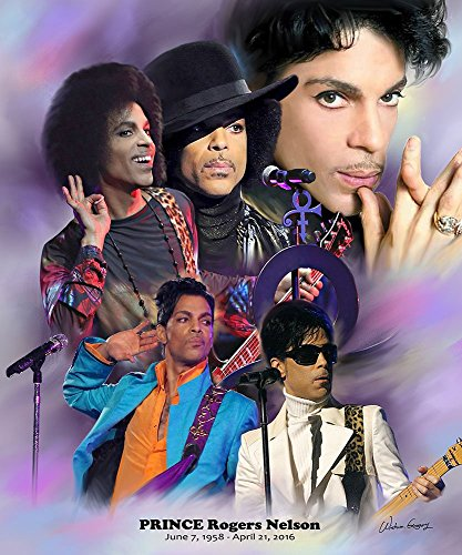 Purple Reign: Prince Rogers Nelson by Wishum Gregory Unframed Art Print