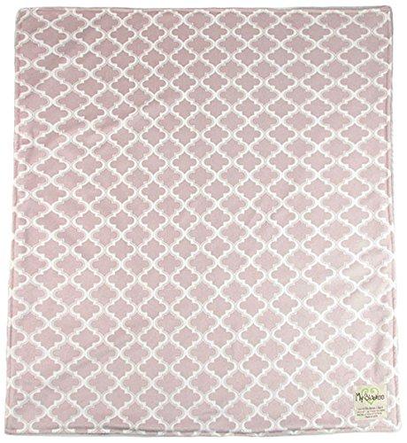 My Blankee Moroccan Mini Tile Minky Throw Blanket, 52'' X 59'', Taupe