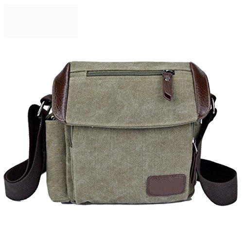 Männer Und Frauen Vintage-Canvas Schulter- Messenger Taschen Aktentasche Seiten Tasche Freizeit,C-OneSize