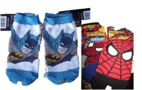 Bat Man Spider Man Low Cut Socks