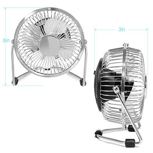 Small Travel Fan : Mini office fan glamouric usb small quiet portable