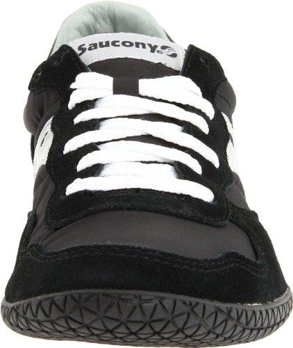 Originali Saucony Mens Proiettile Sneaker Classico Nero / Grigio