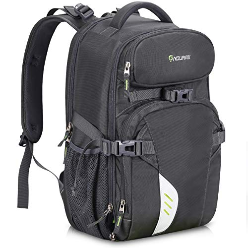 Endurax Video Camera Backpack Fit 2 Pro-Sized DSLR/SLR Camera, 3-5 Lenses, 15.6 inch Laptop for Outdoor Travel (Grey)