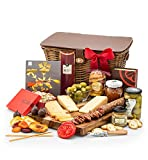 GiftTree Cheese & Charcuterie Gift Basket | Includes Cheeses, Stuffed Olives, Uncured Salami, Spreads & Crackers | Reusable Keepsake Picnic Hamper | Perfect Gift for Birthdays, Get Well, & Holidays