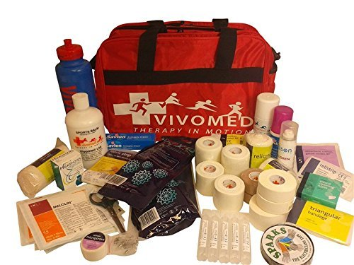 Vivomed Deluxe Medical Bag - Sports First Aid Kit - Red 40cm x 26cm x 25cm by Vivomed