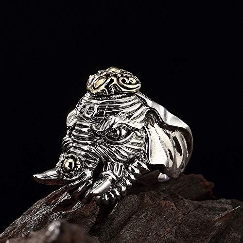 MAFYU Calidad Anillos S925 plata Retro plata tailandesa personalidad única dominante los hombres como Dios anillo enviar...