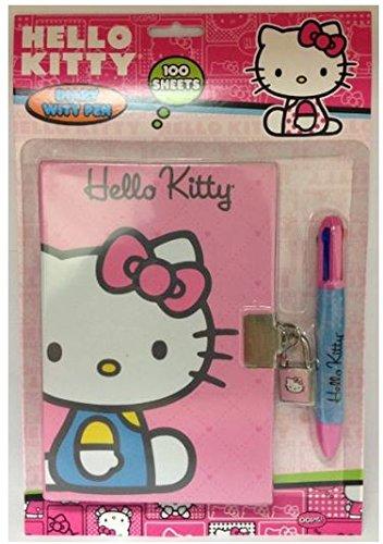 UPC 765940541050, Sanrio Hello Kitty 100 Sheet Locking Diary with Key and 4 Color Pen