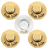 H-2017-5-BWG.4BT Embroidered Sun Hat Bundle - Bride (White/Gold) 4 Bride Tribe