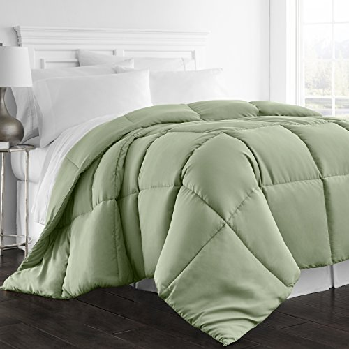 Beckham Hotel Collection 1300 Series - All Season - Luxury Goose Down Alternative Comforter - Hypoallergenic  - King/Cal King - Sage