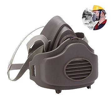 Hamkaw Máscara de respirador de Polvo Reutilizable con Correa Ajustable: Amazon.es: Hogar