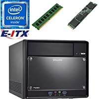 Shuttle SH110R4 Intel Celeron G3930 (Kaby Lake) XPC Cube System , 4GB DDR4, 240GB M.2 SSD, DVD RW, WiFi, Bluetooth, Pre-Assembled and Tested by E-ITX