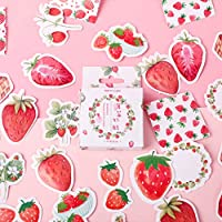 Horoshop 45pcs/Box Strawberry Stationery Stickers Sealing Label Travel Sticker DIY Scrapbooking Diary Planner Albums Decorations