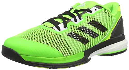 adidas Stabil Boost II, Scarpe da Handball, da Uomo Solar Green-ftwr White-solar Yellow