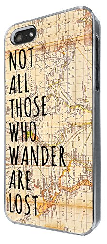 441 - Vitage Wordl Map Not all Those Wonder Are Lost Design iphone 4 4S Coque Fashion Trend Case Coque Protection Cover plastique et métal