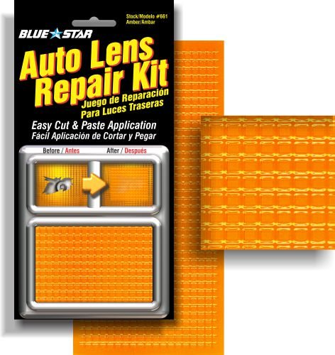 Blue Star Auto Blinker Turn Signal or Tail Light Lens Repair Kit, Amber / Orange Color (Tailight Panel)