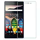 (US) FanTEK Lenovo Tab3 A7 / Tab 3 710 7-Inch Tablet Screen Protector - Ultra Thin Crystal Clear High Definition Shatterproof Tempered Glass Cover Guard