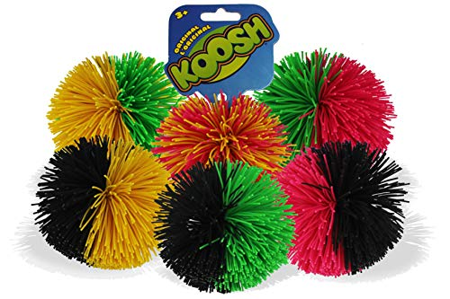 Koosh Ball Sensory Fidget Special Needs Kids Activity Educational Natural Latex One Ball (Assorted)