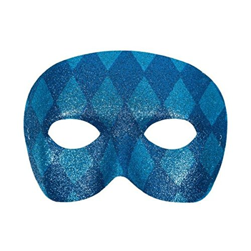 Blue Harlequin Masquerade Party -