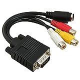 URBEST VGA SVGA to S-Video 3 RCA TV AV Converter Cable Adapter
