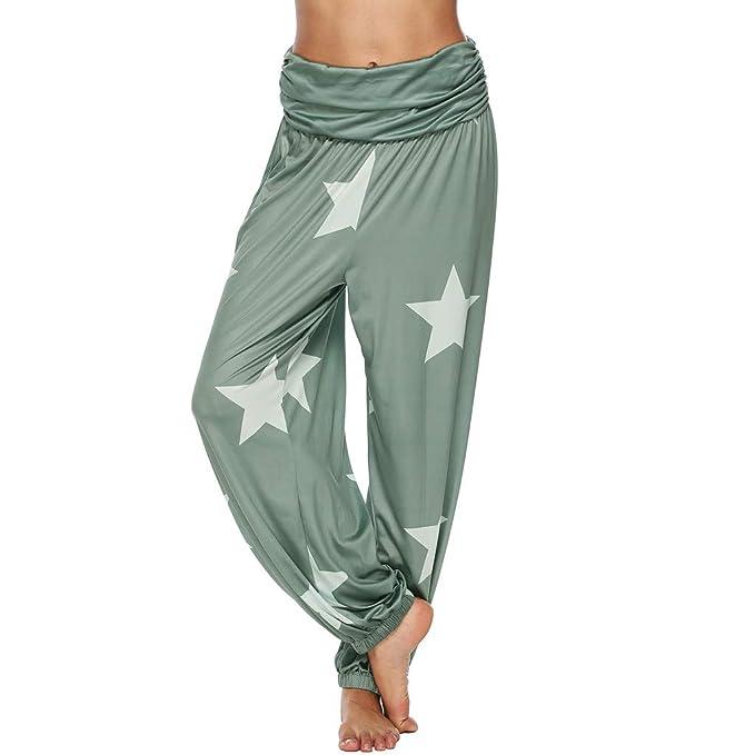 Cocoty-store 2019 Pantalones de Mujer Smocked Waist Boho ...
