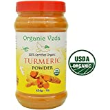 Organic Turmeric (Curcumin) Powder 1 Lb. ★ USDA Certified Organic ★ 100% Pure and Raw Organic Super Food Supplement. Non GMO. Gluten FREE. US FDA Registered Facility. ALL NATURAL!