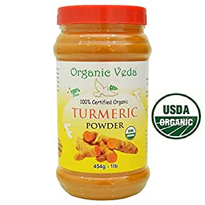 Organic Veda USDA Certified Organic Turmeric Powder - 1 Lb (16 Oz)