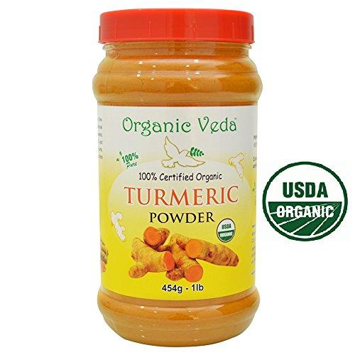 517QB25d1bL - Organic Veda USDA Certified Organic Turmeric Powder - 1 Lb (16 Oz)