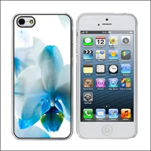 Orchid White and Turquoise - iPhone 5/5s Clear Case