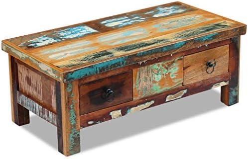 Online Winkelen Festnight salontafel AVCE met schuifladen, antieke stijl, van hout, 90 x 45 x 35 cm  QpwhirG