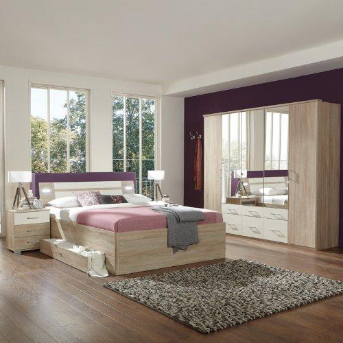 Schlafzimmerset 4-tlg »MODEO« Eiche sägerau, alpinweiß