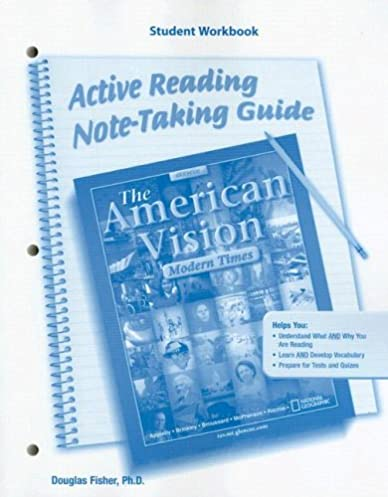 amazon com the american vision modern times active reading and rh amazon com active reading note taking guide answers world history active reading note taking guide answers world history
