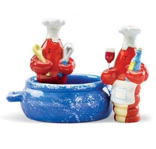(Red Lobster Pot Chef Cook Salt & Pepper Shaker S/P)