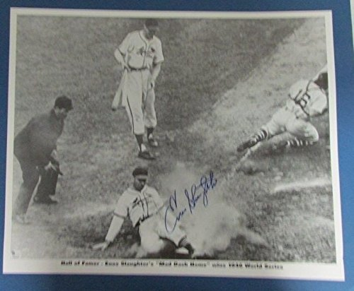 Enos Slaughter Cardinals 1946 World Series Auto/Signed 16x20 JSA PSA Pass 121038 by Best Authentics